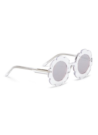 Figure View - Click To Enlarge - Sons + Daughters - 'Pixie' flower frame acetate mirror kids sunglasses