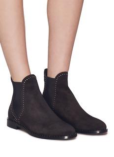 Jimmy Choo 'Merril Flat' stud suede Chelsea boots