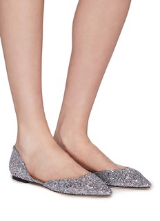 Jimmy Choo 'Esther' coarse glitter d'Orsay flats