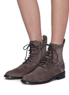 Jimmy Choo 'Hanah' suede combat boots