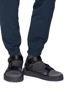 Brandblack 'Tabi' strap sock knit sandals