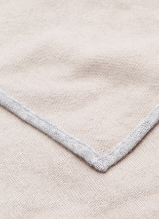 Detail View - Click To Enlarge - LANE CRAWFORD - Cashmere throw – Jute Beige