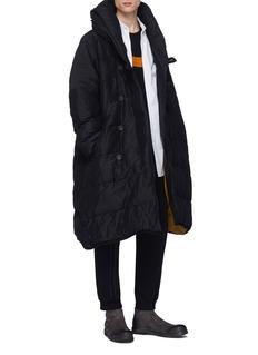 Ziggy Chen Linen-cotton down puffer jacket