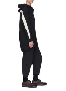 Ziggy Chen Contrast stripe hooded shirt