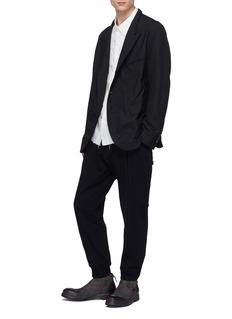 Ziggy Chen Stripe panelled jogging pants