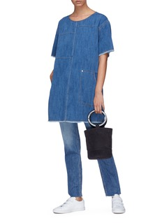 Elizabeth and James 'Harper' panelled oversized denim top