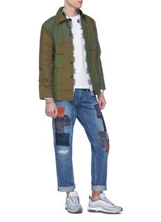 FDMTL Patchwork cotton shirt jacket