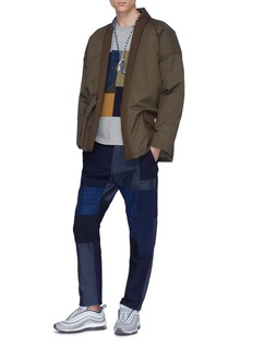 FDMTL Boro patchwork cropped jeans