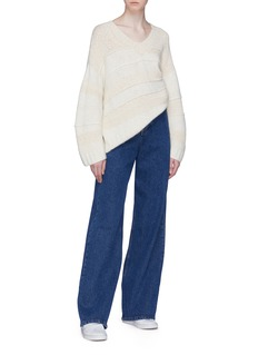 Elizabeth and James 'Torry' panelled cashmere-silk sweater