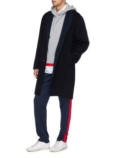 rag & bone 'Principle' contrast lapel reversible wool-blend coat