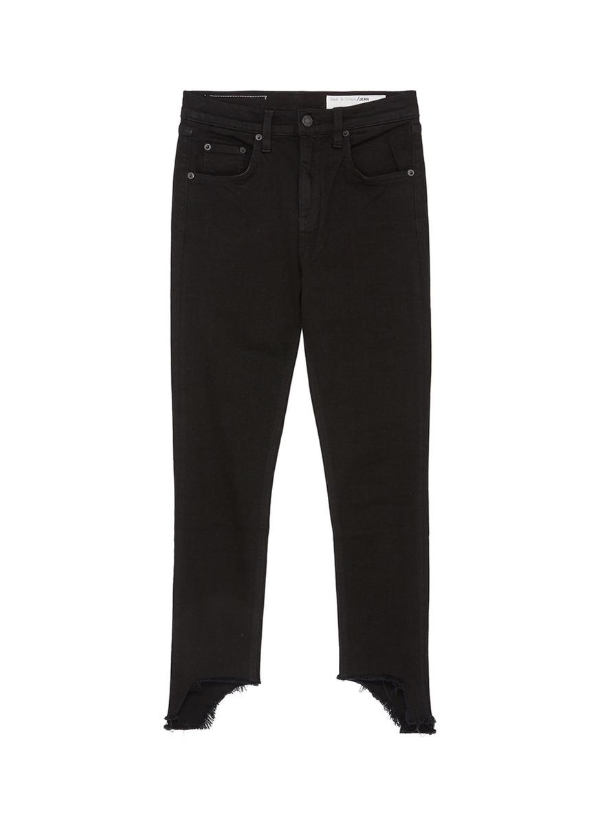 10 Inch Capri staggered cuff skinny jeans by Rag & Bone/Jean