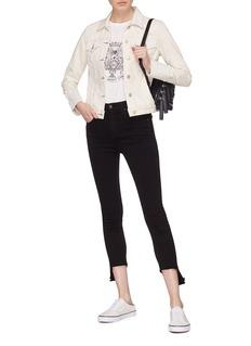 rag & bone/JEAN '10 Inch Capri' staggered cuff skinny jeans