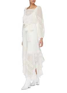 Zimmermann Hanky' dot fil coupé drape georgette midi dress