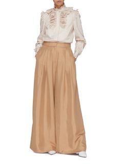 Zimmermann Pleated silk wide leg pants