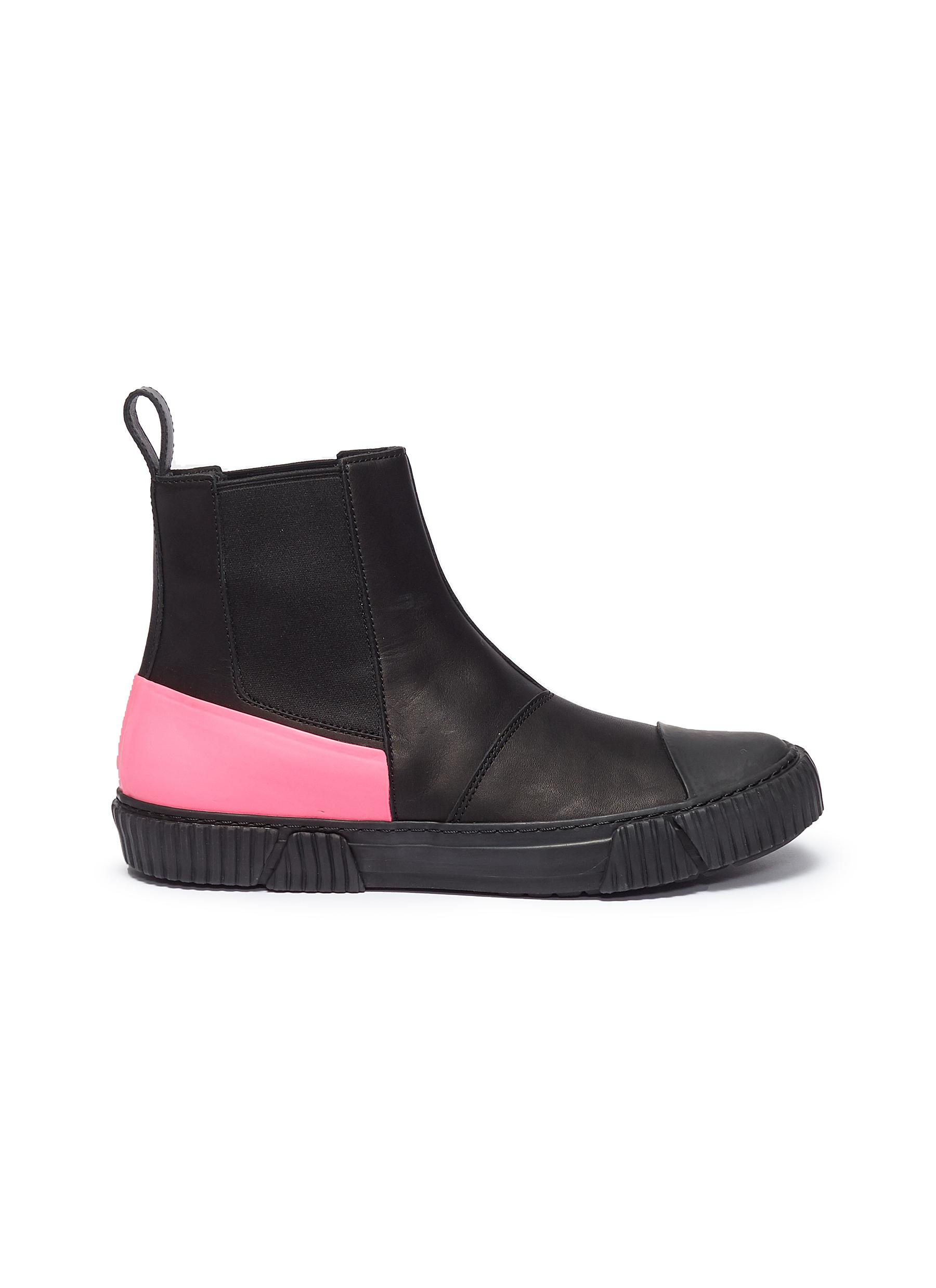 Colourblock rubber counter leather Chelsea sneaker boots by both