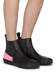 both Colourblock rubber counter leather Chelsea sneaker boots