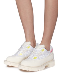 both 'Gao Runner' web panelled sneakers