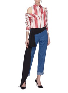 Hellessy 'Romeo' sash drape panel jeans