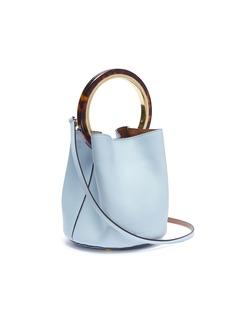 Marni 'Pannier' small tortoiseshell ring handle leather crossbody bag
