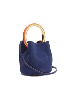 Marni 'Pannier' small ring handle suede crossbody bag