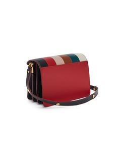 Marni 'Trunk' stripe panel leather shoulder bag