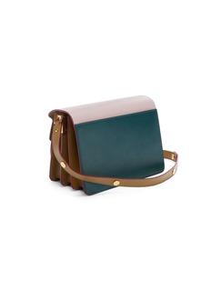 Marni 'Trunk' colourblock leather shoulder bag