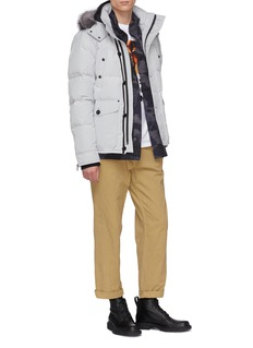 Moose Knuckles 'Port Dufferin' fox fur trim hooded down puffer jacket