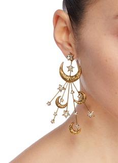 Jennifer Behr 'Lunetta' glass crystal burst drop earrings