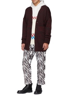 HUNTING WORLD Geometric print twill jogging pants