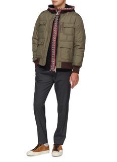 HUNTING WORLD Geometric stripe zip hoodie