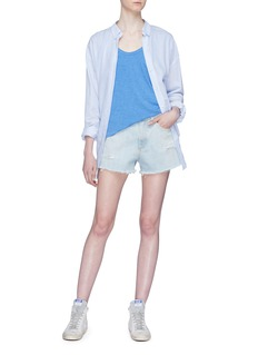 rag & bone/JEAN 'Justine' ripped denim shorts