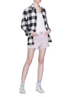 rag & bone/JEAN 'Justine' frayed cuff twill shorts