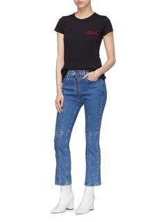 rag & bone/JEAN 'Iver' zip cuff cropped boot cut jeans