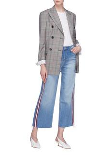 L'Agence 'Danica' stripe outseam cropped wide leg jeans