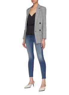 L'Agence 'Chiara' twist pleated silk charmeuse peplum camisole top