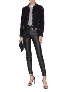 L'Agence 'Celine' stud denim jacket