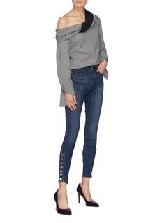 L'Agence 'Piper' button cuff skinny jeans