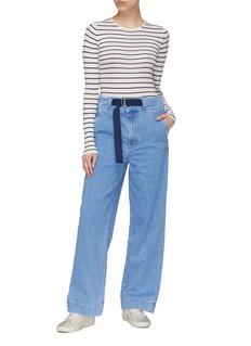 rag & bone/JEAN Belted paperbag wide leg jeans
