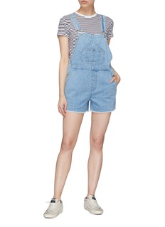 rag & bone/JEAN Patch pocket denim short dungarees