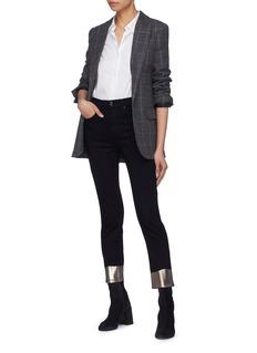 rag & bone/JEAN 'Ankle Cigarette' metallic cuff cropped skinny jeans