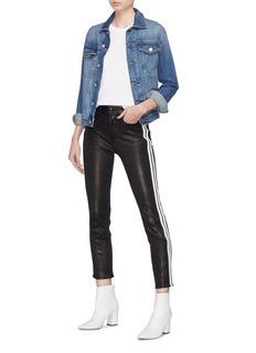 rag & bone/JEAN Stripe outseam skinny cigarette leather pants