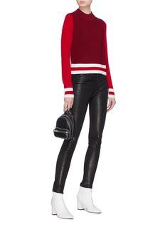 rag & bone/JEAN 'Dean' colourblock mock neck Merino wool sweater