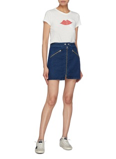 rag & bone/JEAN 'Racer' zip front denim skirt