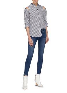 Current/Elliott 'The Loretta' button shoulder stripe shirt
