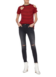 Current/Elliott 'The Stiletto' ripped knee skinny jeans