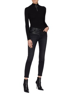 Current/Elliott 'The Stiletto' faux leather panel skinny jeans