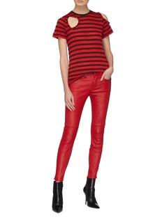 Current/Elliott 'The Stiletto' contrast pocket skinny leather pants