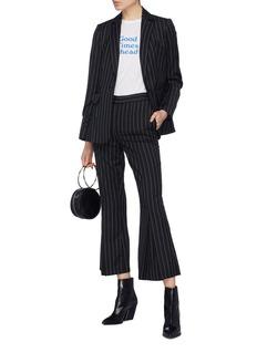 Frame Denim Pinstripe wool blend blazer