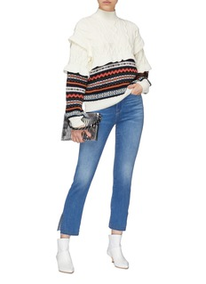Frame Denim 'Le High Straight' studded split cuff jeans
