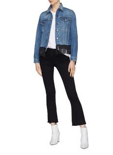 Frame Denim 'Vintage' fringe trim denim jacket